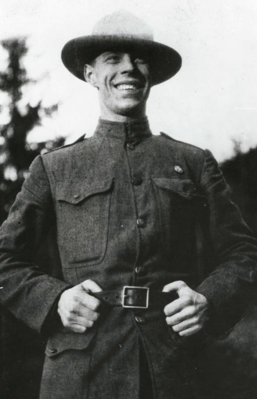 Billy Broches vkanadské uniformě vroce 1927